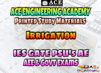 Irrigation Ace Engineering Academy GATE & PSU's Materials - Free Download