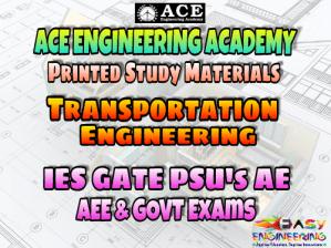Transportation Engineering Ace Engineering Academy GATE & PSU's Materials