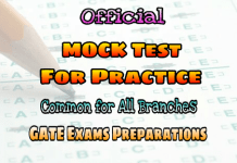 Mock Test for Practice GATE & IES 2018 Exams – Official
