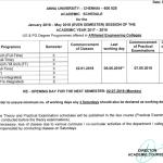Anna University Reopening date UG-PG-II-Semester