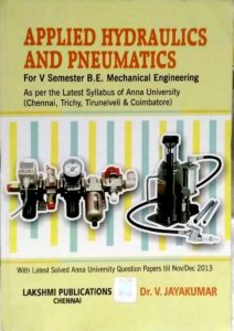 PDF] ME6021 Hydraulics and Pneumatics (HP) Books, Lecture Notes