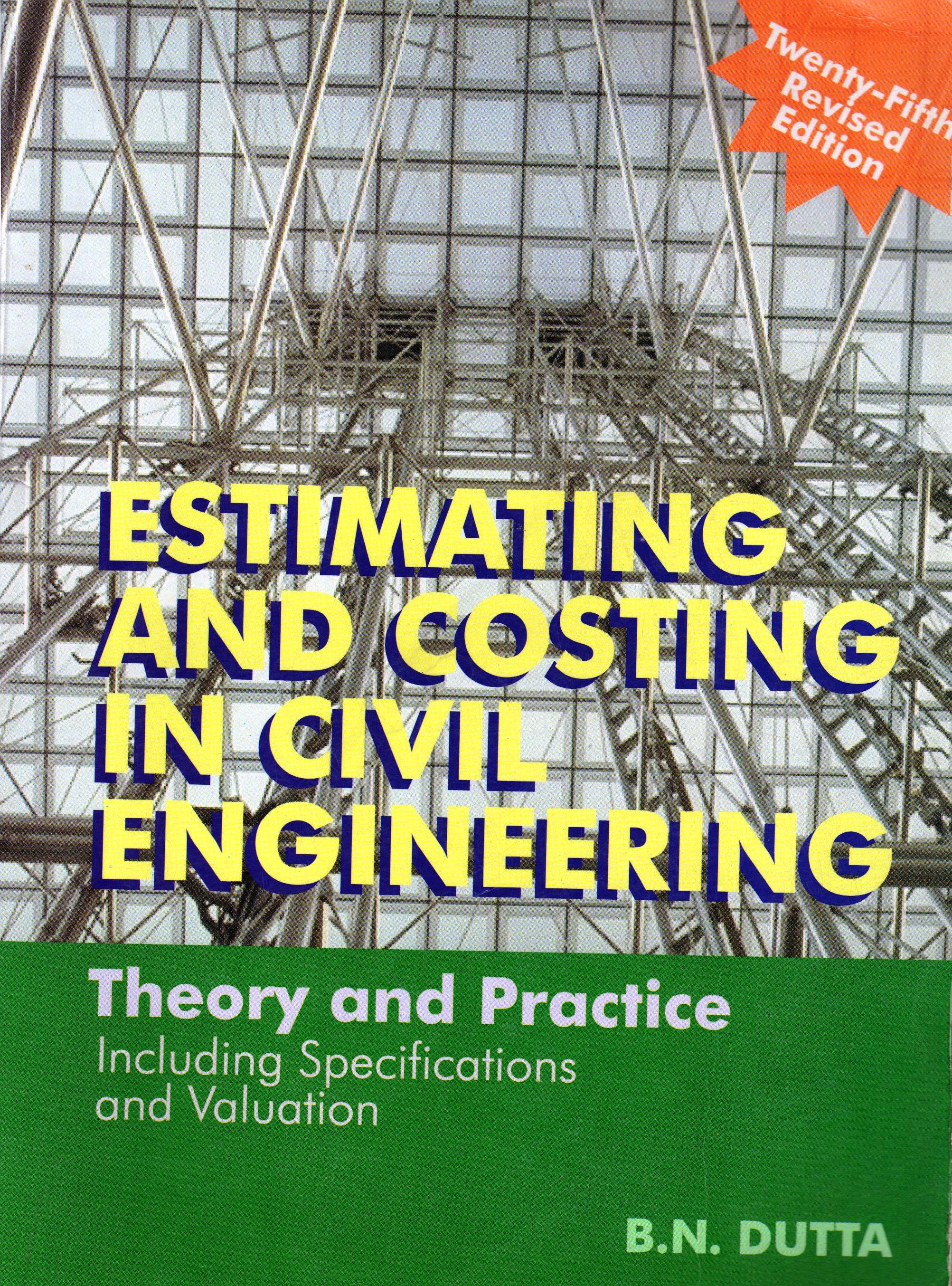 Pdf costing estimating and book