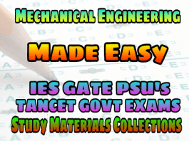 MECHANICAL ENGINEERING MADE EASY PUBLICATIONS STUDY MATERIAL FOR IES GATE PSU's TANCET & GOVT EXAMS – PDF FREE DOWNLOAD