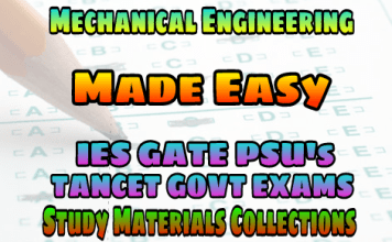 MECHANICAL ENGINEERING EasyEngineering Team PUBLICATIONS STUDY MATERIAL FOR IES GATE PSU's TANCET & GOVT EXAMS – PDF FREE DOWNLOAD