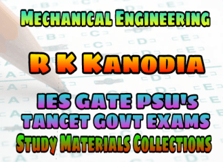 MECHANICAL ENGINEERING R. K. KANODIA AND ASHISH MUROLIA (NODIA & COMPANY PUBLICATIONS) PREVIOUS YEARS SOLVED MCQ GATE EXAMS STUDY MATERIALS SUBJECT WISE – PDF FREE DOWNLOAD