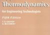 Applied Thermodynamics and engineering Fifth Edition By T.D Eastop and A. McConkey incomplete