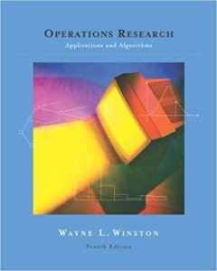 OPERATIONS RESEARCH APPLICATIONS AND ALGORITHMS BY WAYNE L. WINSTON