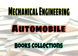 Automobile Engineering Books – PDF Free Download