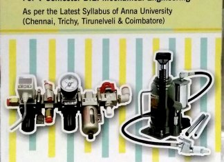 Applied Hydraulics and Pneumatics By Dr.V.Jayakumar, Lakshmi Publications