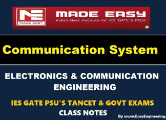 Communication System EasyEngineering Team IES GATE PSU's TANCET & GOVT Exams Study Material For Electronics Communication Engineering – PDF Free Download