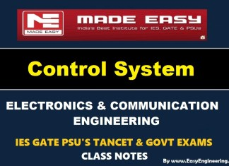 Control System EasyEngineering Team IES GATE PSU's TANCET & GOVT Exams Study Material For Electronics Communication Engineering – PDF Free Download