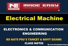 Electrical Machines Made Easy IES GATE PSU's TANCET & GOVT Exams Study Material For Electronics Communication Engineering – PDF Free Download