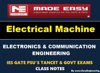 Electrical Machines EasyEngineering Team IES GATE PSU's TANCET & GOVT Exams Study Material For Electronics Communication Engineering – PDF Free Download