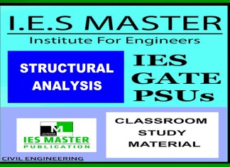 IES, GATE & PSU's - Structural Analysis IES MASTER STUDY MATERIAL – PDF FREE DOWNLOAD