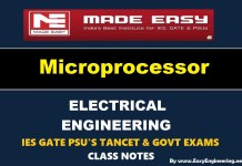 Microprocessor Made Easy IES GATE PSU's TANCET & GOVT Exams Study Material For Electrical Engineering – PDF Free Download