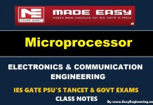 Microprocessor Made Easy IES GATE PSU's TANCET & GOVT Exams Study Material For Electronics Communication Engineering – PDF Free Download