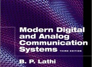 Modern Digital and Analog Communication Systems By B. P. Lathi – PDF Free Download