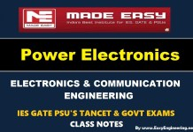 Power Electronics Made Easy IES GATE PSU's TANCET & GOVT Exams Study Material For Electronics Communication Engineering – PDF Free Download