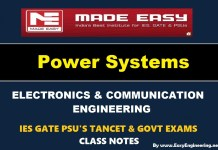 Power System Made Easy IES GATE PSU's TANCET & GOVT Exams Study Material For Electronics Communication Engineering – PDF Free Download