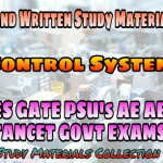 Control System Handwritten IES GATE PSU's TANCET & GOVT Exams Study Material For Electrical Engineering & Electronics Communication Engineering – PDF Free Download