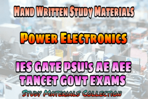 PDF] Power Electronics Handwritten Study Materials (Notes