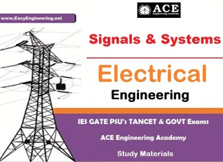 Signals & Systems Ace Engineering Academy IES GATE PSU's TANCET & GOVT Exams Study Material For Electronics Communication Engineering – PDF Free Download