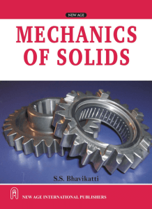 PDF] CE6302 Mechanics of Solids (MOS) Books, Lecture Notes