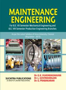 Maintenance Engineering By Dr.G.K.Vijayaraghavan, Dr.R.Rajappan, Dr.S.Sundaravalli