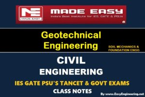 [PDF] EasyEngineering Team Geotechnical Engineering GATE IES TANCET & GOVT Exams Handwritten Classroom Notes Free Download
