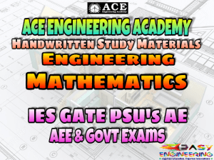 ACE Engineering Academy Engineering Mathematics AE AEE National & State Level Exams Handwritten Notes - Free Download PDF