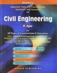 Objective Type and Conventional Questions and Answers On Civil Engineering By R. Agor