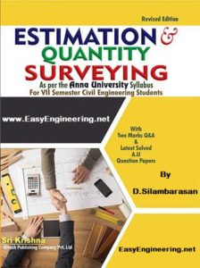 Estimation and Quantity Surveying By D. Silambarasan