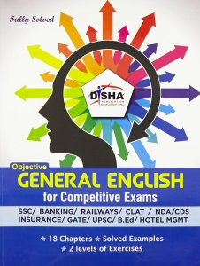 Objective General English for Competitive Exams - SSC/Banking/Rlwys/CLAT/NDA/CDS/Hotel Mgmt./B.Ed By Disha Experts Book
