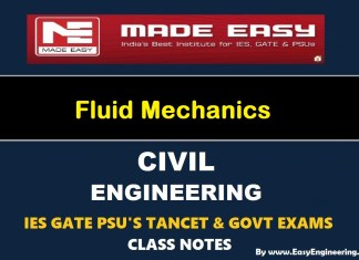 Fluid Mechanics GATE IES TANCET & GOVT Exams Handwritten Classroom Notes
