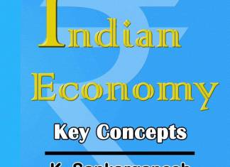 Indian Economy Key Concepts By K Sankarganesh