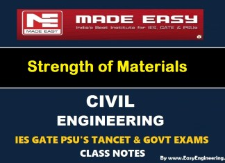 Made Easy Strength of Materials GATE IES TANCET & GOVT Exams Handwritten Classroom Notes Free Download