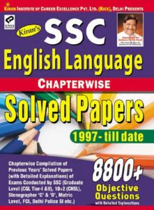 SSC English Language Chapterwise Solved Papers 6500+ Objective Questions - English