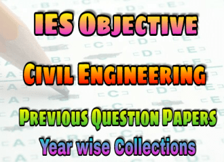 IES Civil Engineering Objective Previous Years Paper