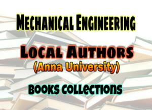 Mechanical Engineering Local Authors (Anna University) Books