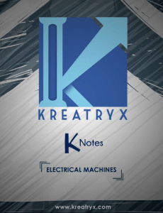 Electrical Machines Kreatryx Study Materials