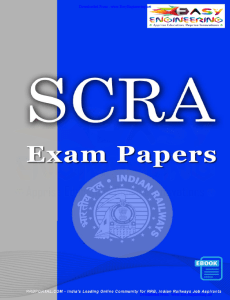 RRB Special Class Railway Apprentices (SCRA) Exam Papers with Key