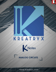 Analog Circuits Kreatryx Study Materials