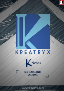 Signals and Systems Kreatryx Study Materials