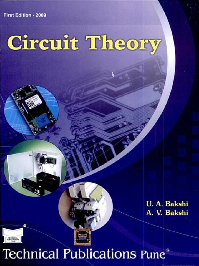 PDF Circuit Theory By A V Bakshi U A Bakshi Book Free