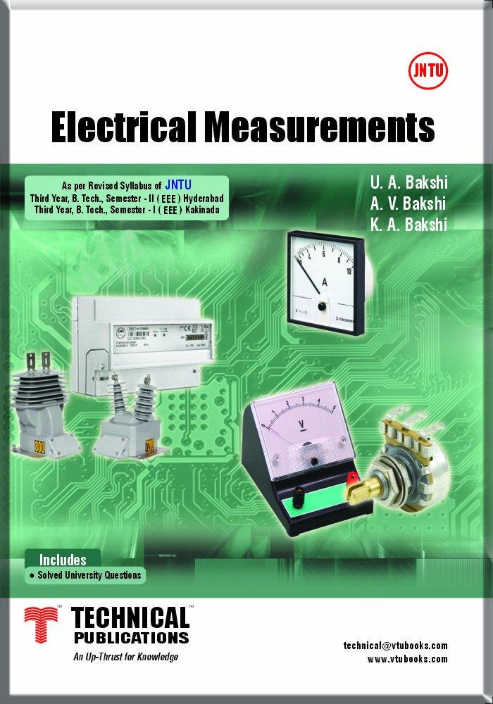Electrical Measurements By U.A.Bakshi, A.V.Bakshi, K.A.Bakshi
