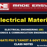 ELECTRICAL MATERIAL Handwritten EasyEngineering Team IES GATE PSU's TNPSC TRB TANCET SSC JE AE AEE & GOVT EXAMS Study Materials