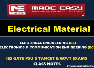 ELECTRICAL MATERIAL Handwritten Made Easy IES GATE PSU's TNPSC TRB TANCET SSC JE AE AEE & GOVT EXAMS Study Materials