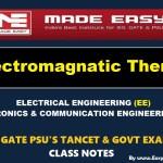 ELECTROMAGNETIC THEORYHandwritten EasyEngineering Team IES GATE PSU's TNPSC TRB TANCET SSC JE AE AEE& GOVT EXAMS Study Materials