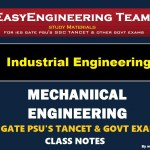 Industrial Engineering Handwritten Classroom Notes for IES GATE SSC TNPSC & Other GOVT Exams