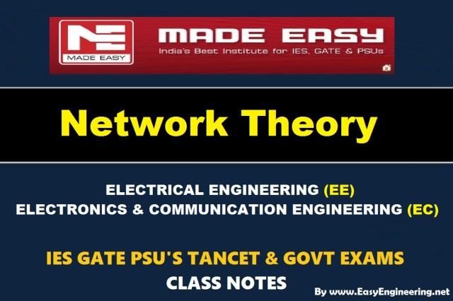 PDF Handwritten Network Theory EasyEngineering Team Study